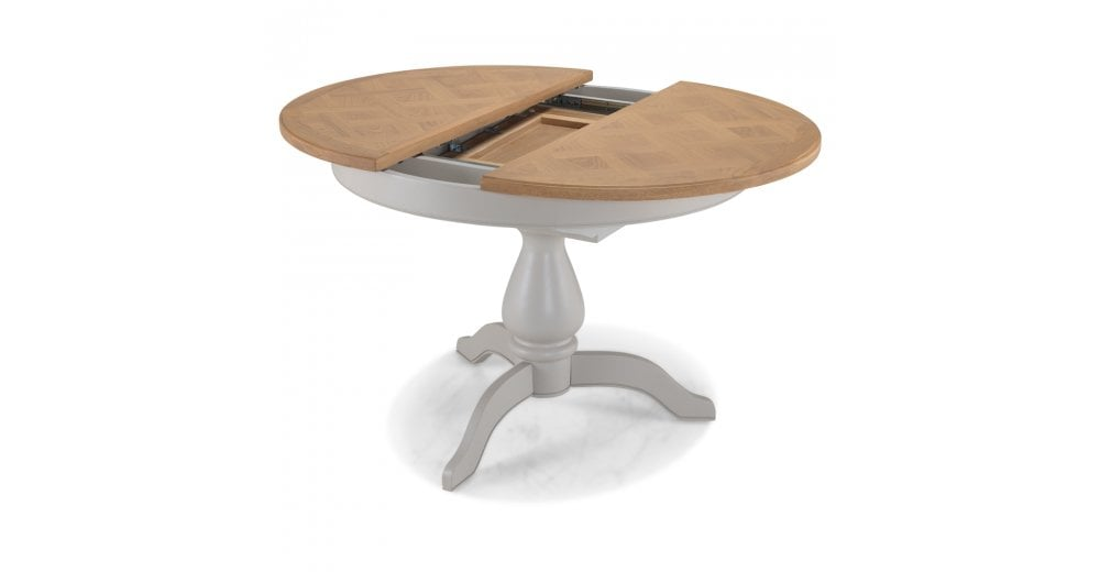 Malvern Round Extending Dining Table, Round Extending Dining Tables